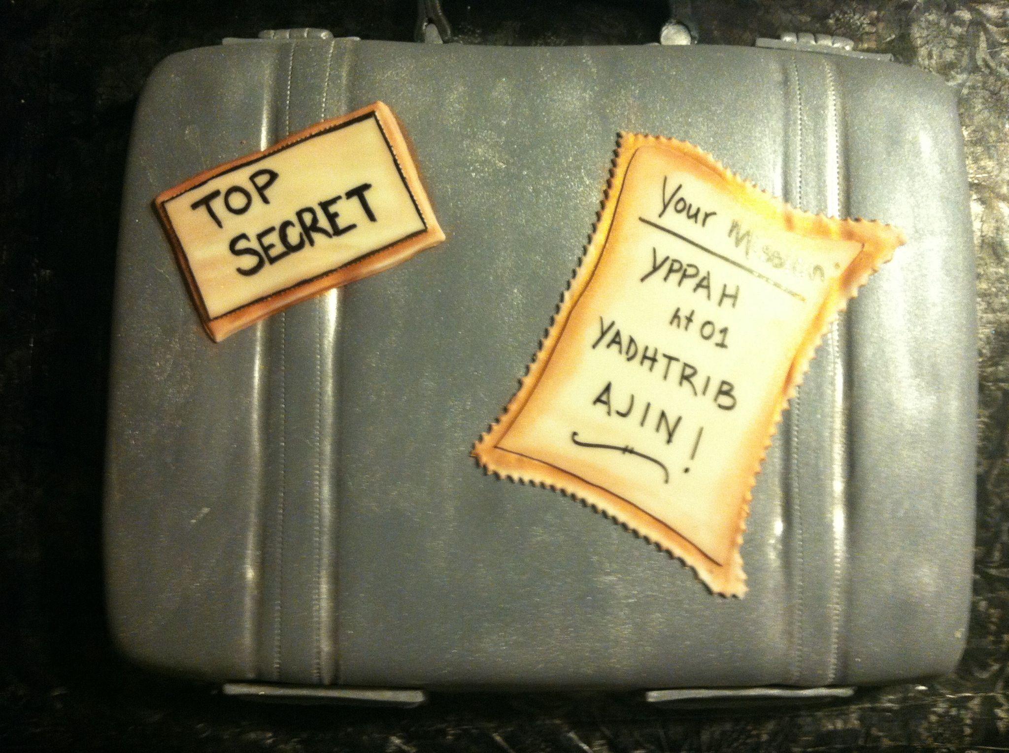 Spy Briefcase Cake