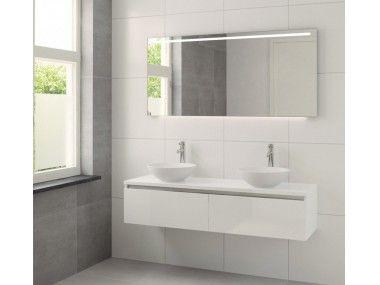 Afbeeldingsresultaat voor badkamer dubbele wastafel met spiegel ...