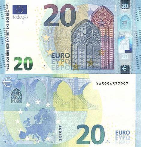 European Union 20 Euros 2015 Banknotes Money