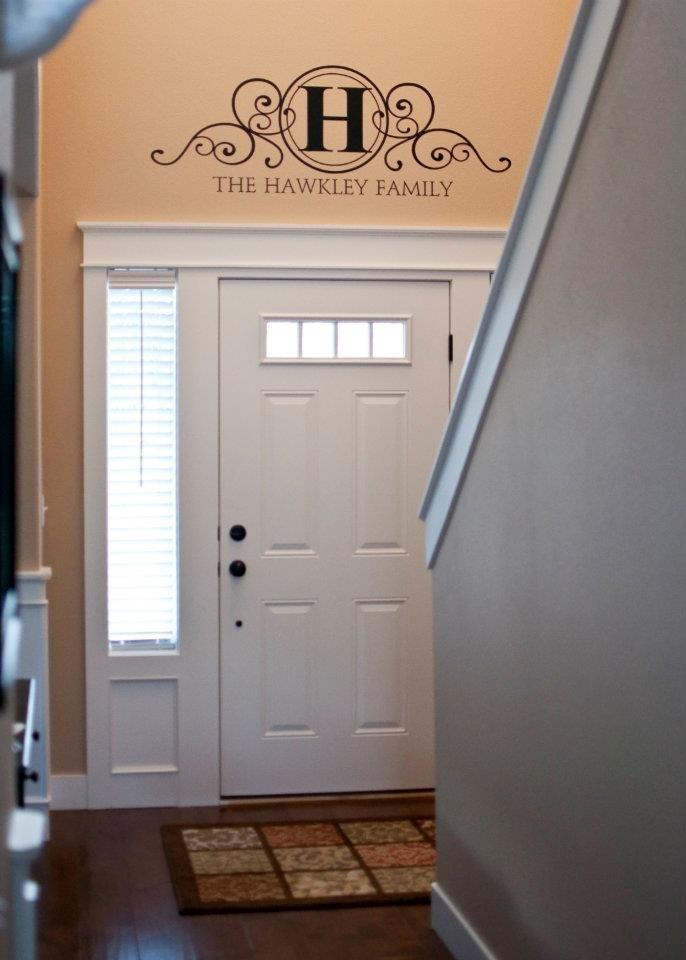 Monogram Above Door Inside Front Doors Above Door Decor Front Door