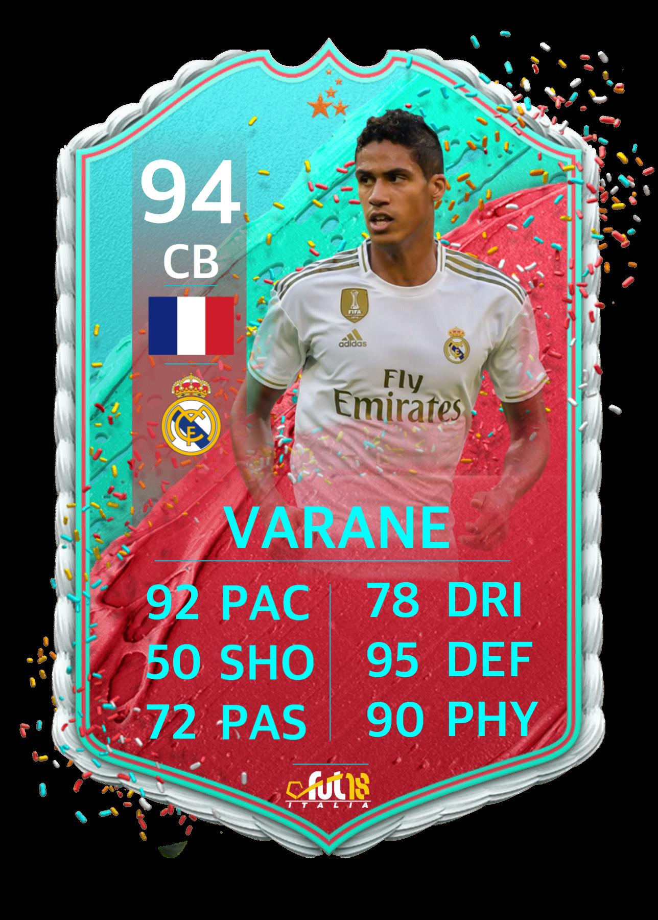 Varane Fut Birthday Card Cards Birthday Cards Fifa