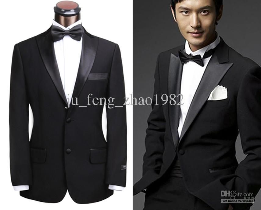 Classic Black Suit Groom Tuxedos 2014 Men\'s Suits Groomsman Formal ...
