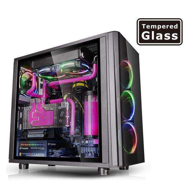 View 31 Tempered Glass Rgb Edition Custom Pc Tempered Glass