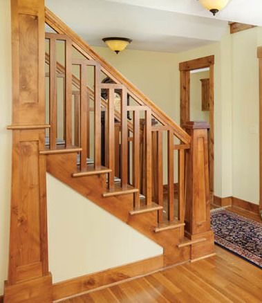 Best Arts Crafts Newel Craftsman Staircase Staircase 400 x 300