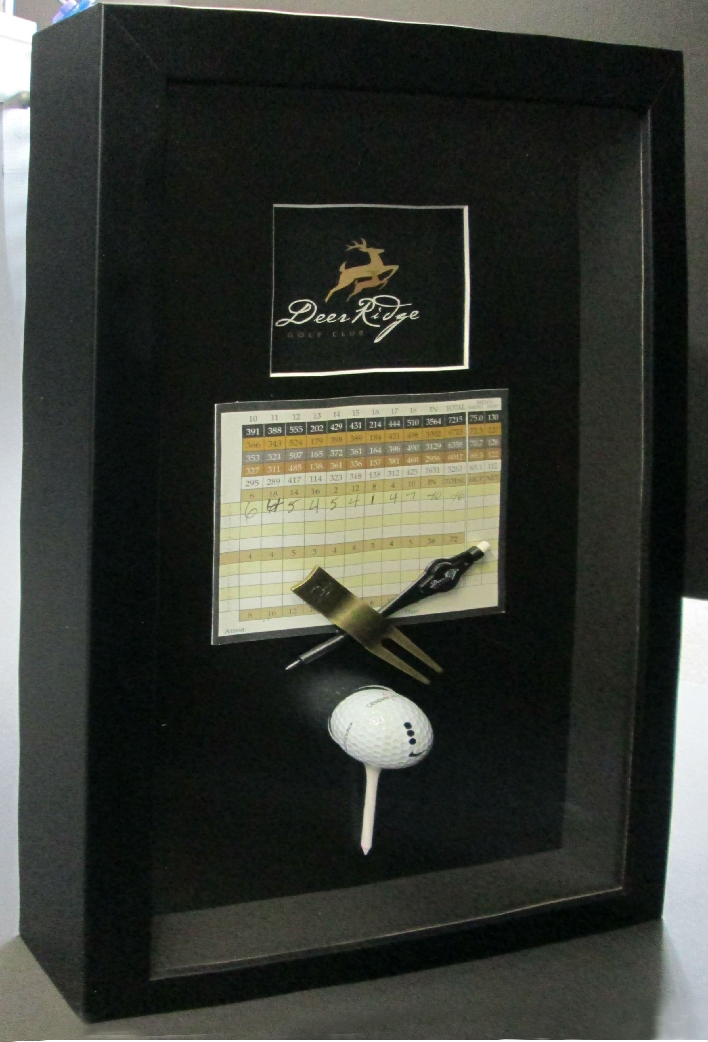 Hole In One Golf Shadowbox Sports Framing Pinterest
