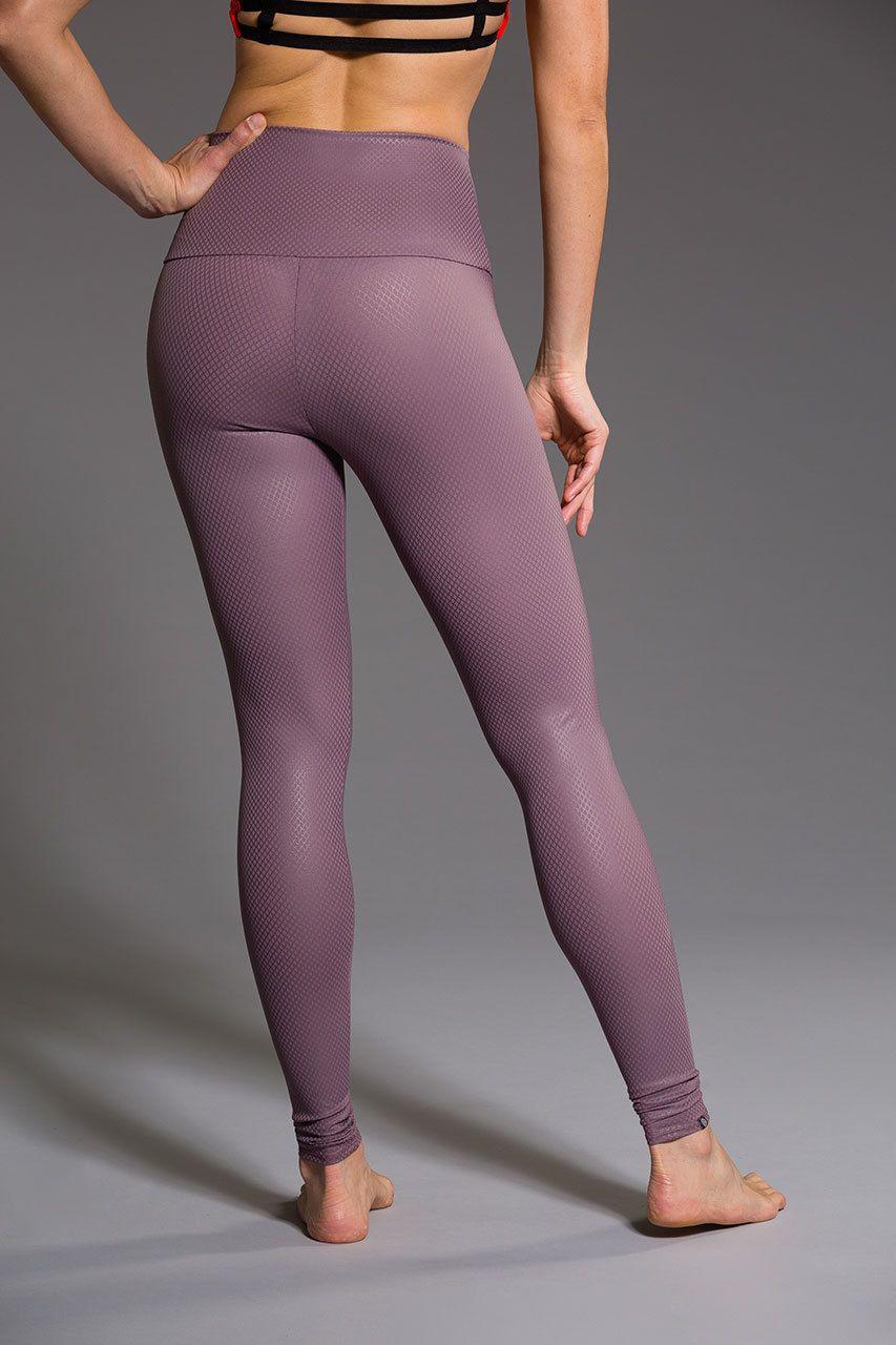 400e51bb70043 High Rise Legging - Purple Haze Fishnet | Onzie | High waisted ...