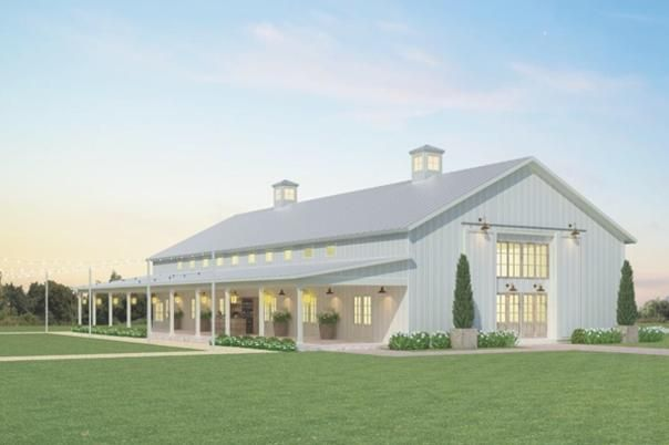 Wedding Venues In Denton Tx With Images Farmhouse Wedding Venue Metal Buildings Church Building Design