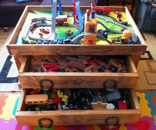 The Train Table / Coffee Table Project | Thomas train, Train set and ...