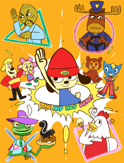 Parappa The Rapper Loveit Retro Gaming Art Rapper Art Game Character