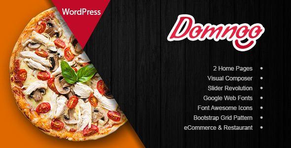 Wordpress Domnoo Pizza Restaurant Wordpress Theme Download