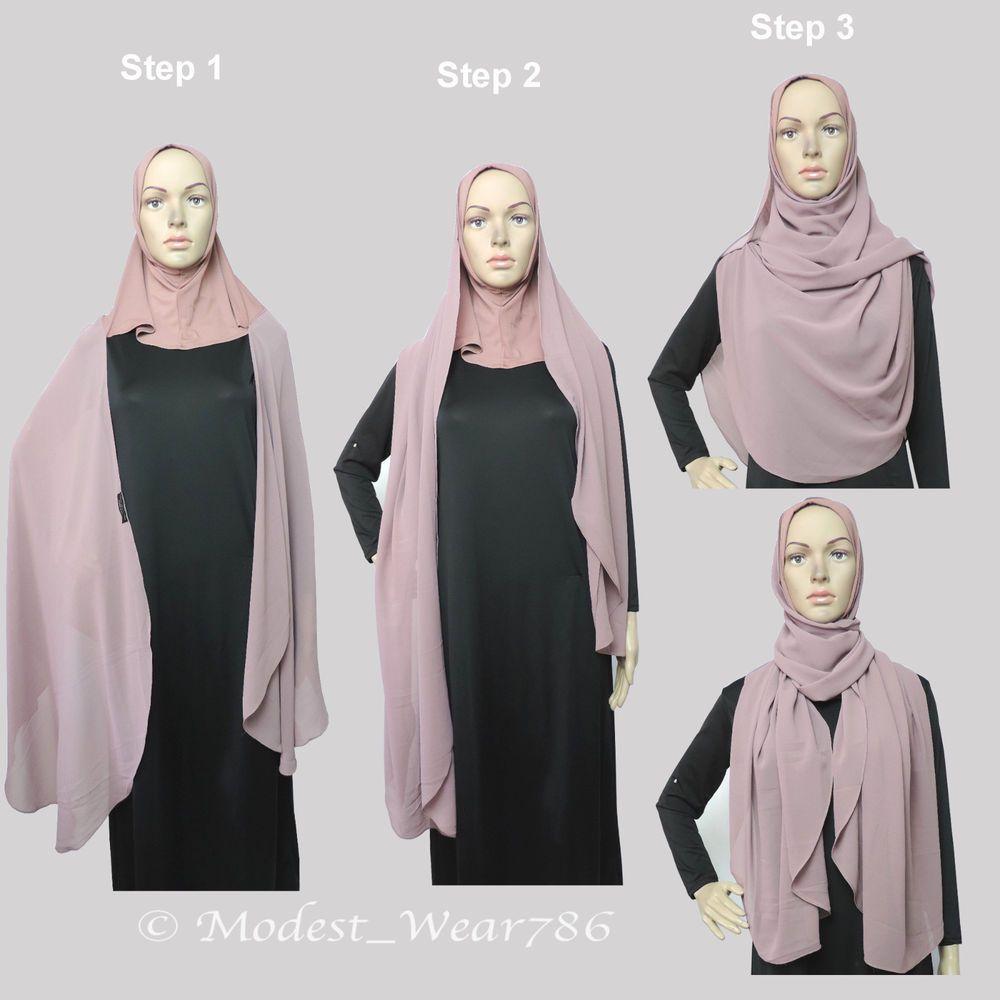 122in12 Effortless Chiffon Hijab and Underscarf Muslim Islam