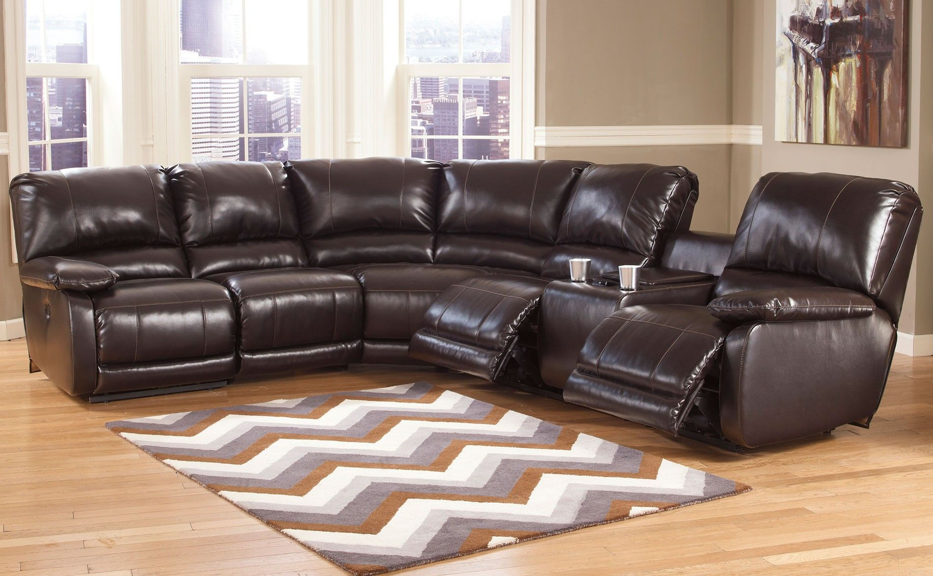 Ashley Capote 4 Piece Sectional Reclining Upholstery