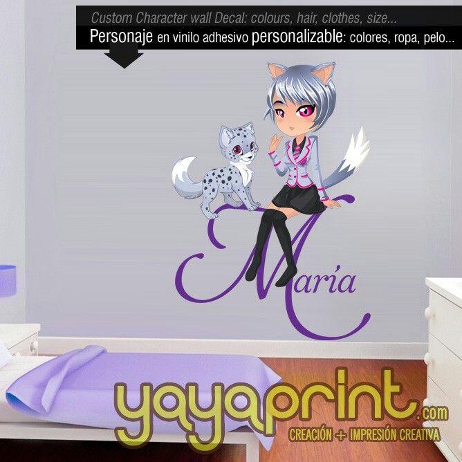 Crea tu anime avatar manga personalizado para decorar tu Crea tu habitacion
