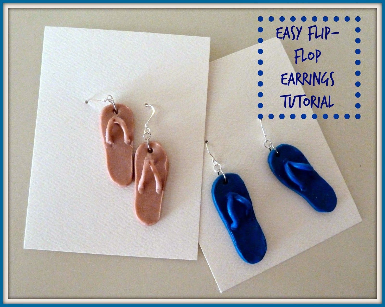 07fe61ca4617e Make it easy crafts  Easy Clay Flip-Flop Earrings Tutorial