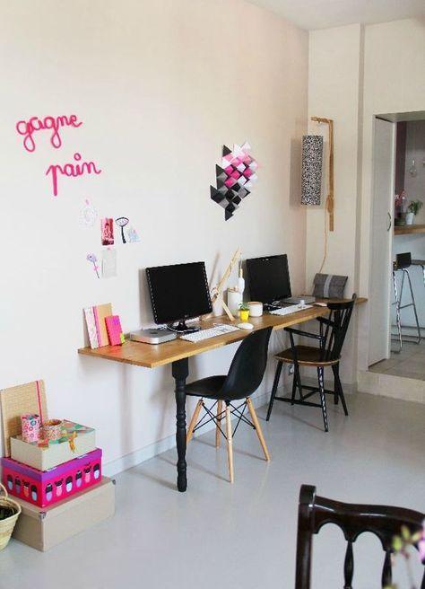 Notre bureau double home made - Tête d\u0027ange Bureaus