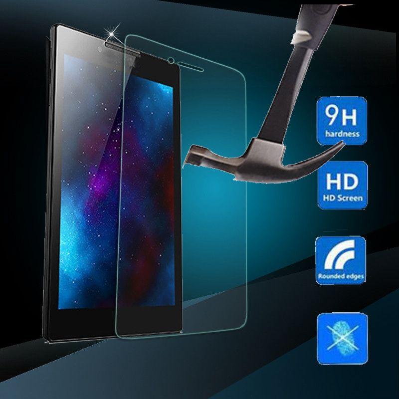 9 h 강화 유리 투명 필름 lenovo tab3 7 에센셜 710f 화면 보호기 새로운 정제 화면 보호 필름 7 인치