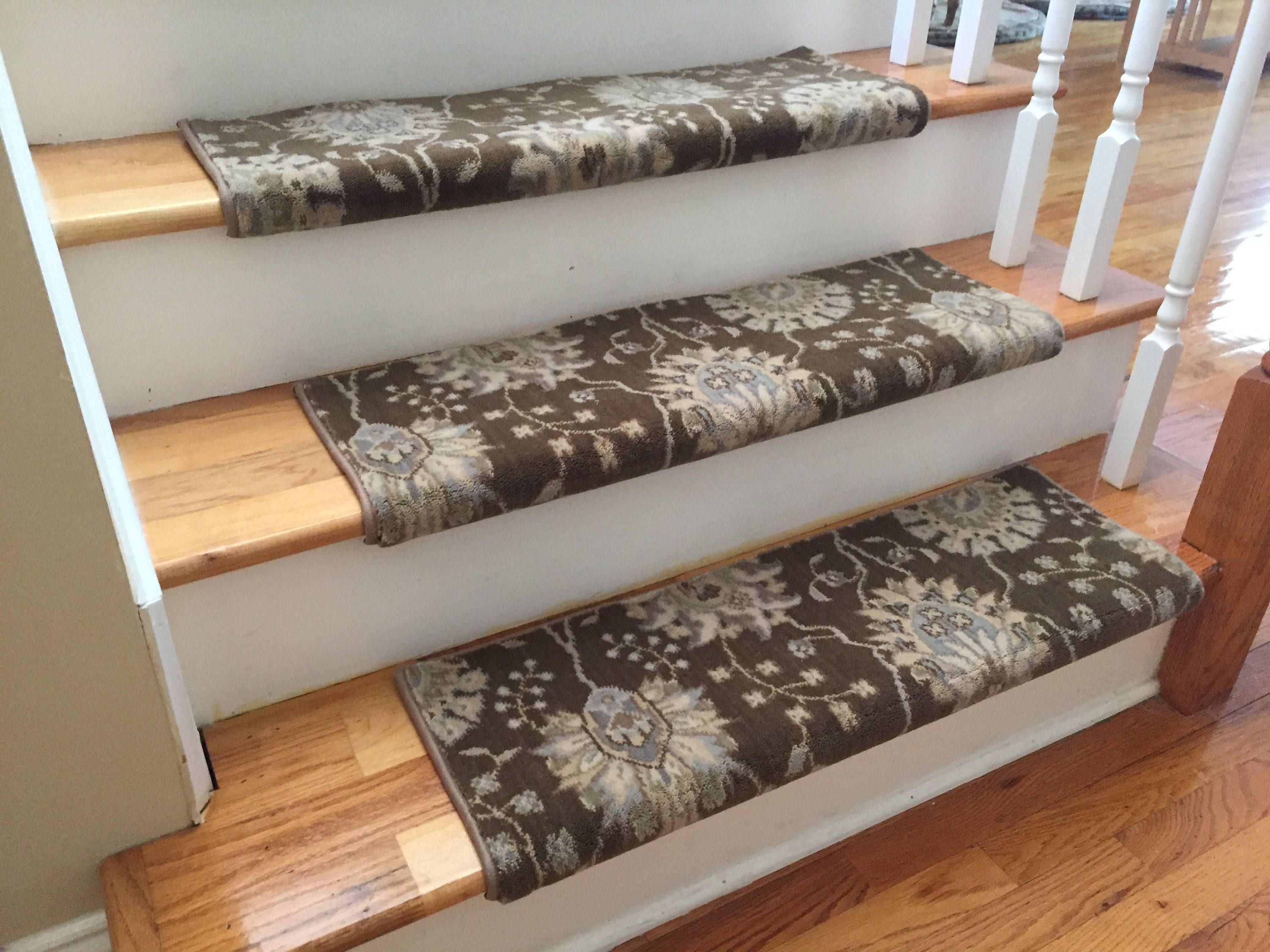 Best Authentic Wool Sable True Bullnose™ Carpet Stair Tread New 400 x 300