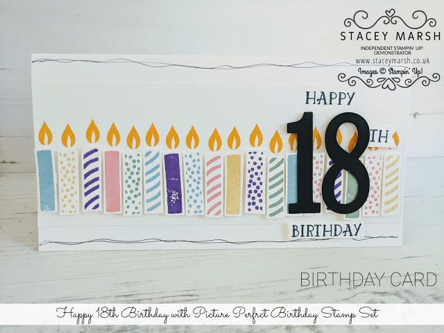 Happy 18th Birthday Card With Stampin Up Picture Perfect Stamp Set