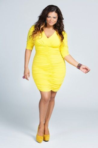 cutethickgirls plus size yellow tops (05) #plussizedresses