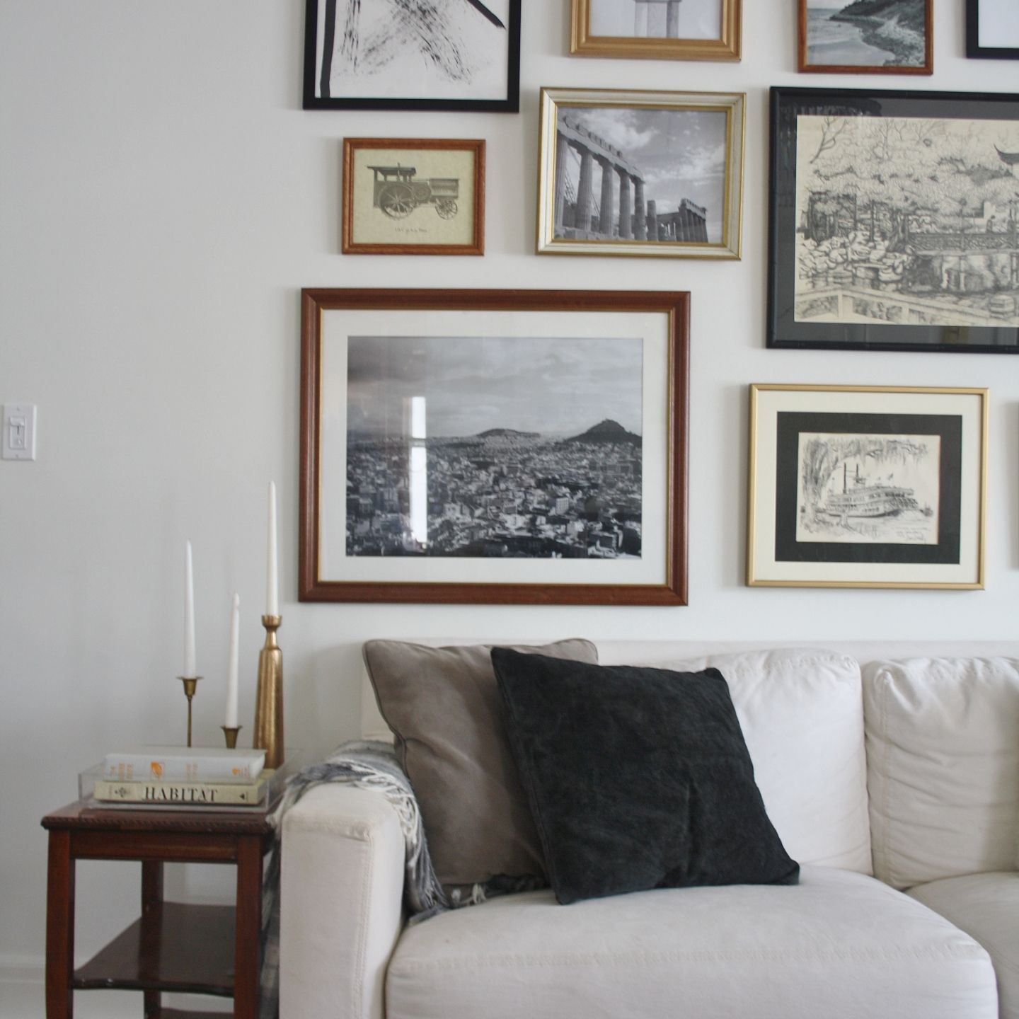 Our Living Room Gallery Wall Park And Division Gallery Wall Living Room Gallery Wall Living Room