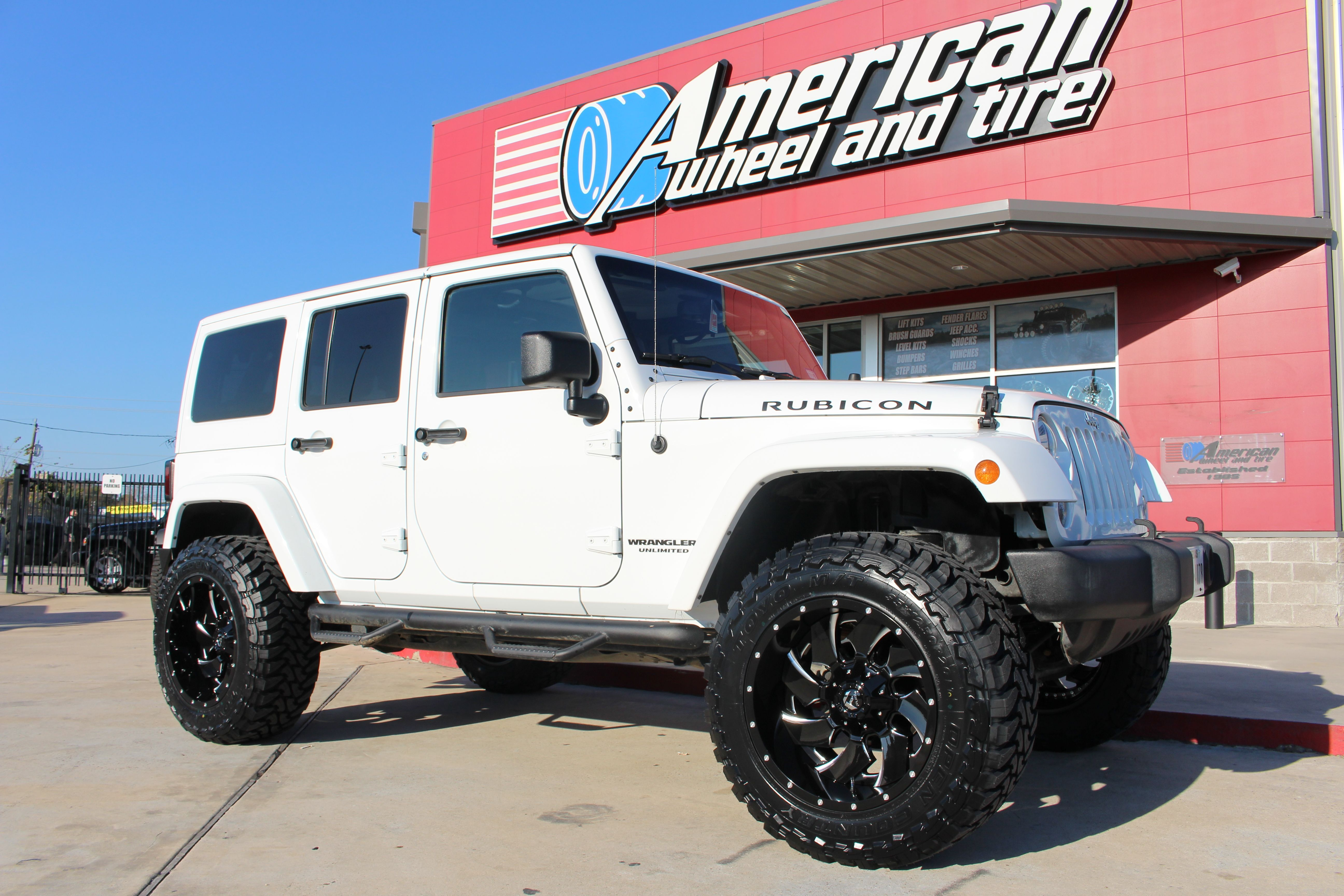 Pin By American Wheel And Tire On Blanco Jeep Wrangler Unlimited Lifted Jeep Lifted Jeep Wrangler