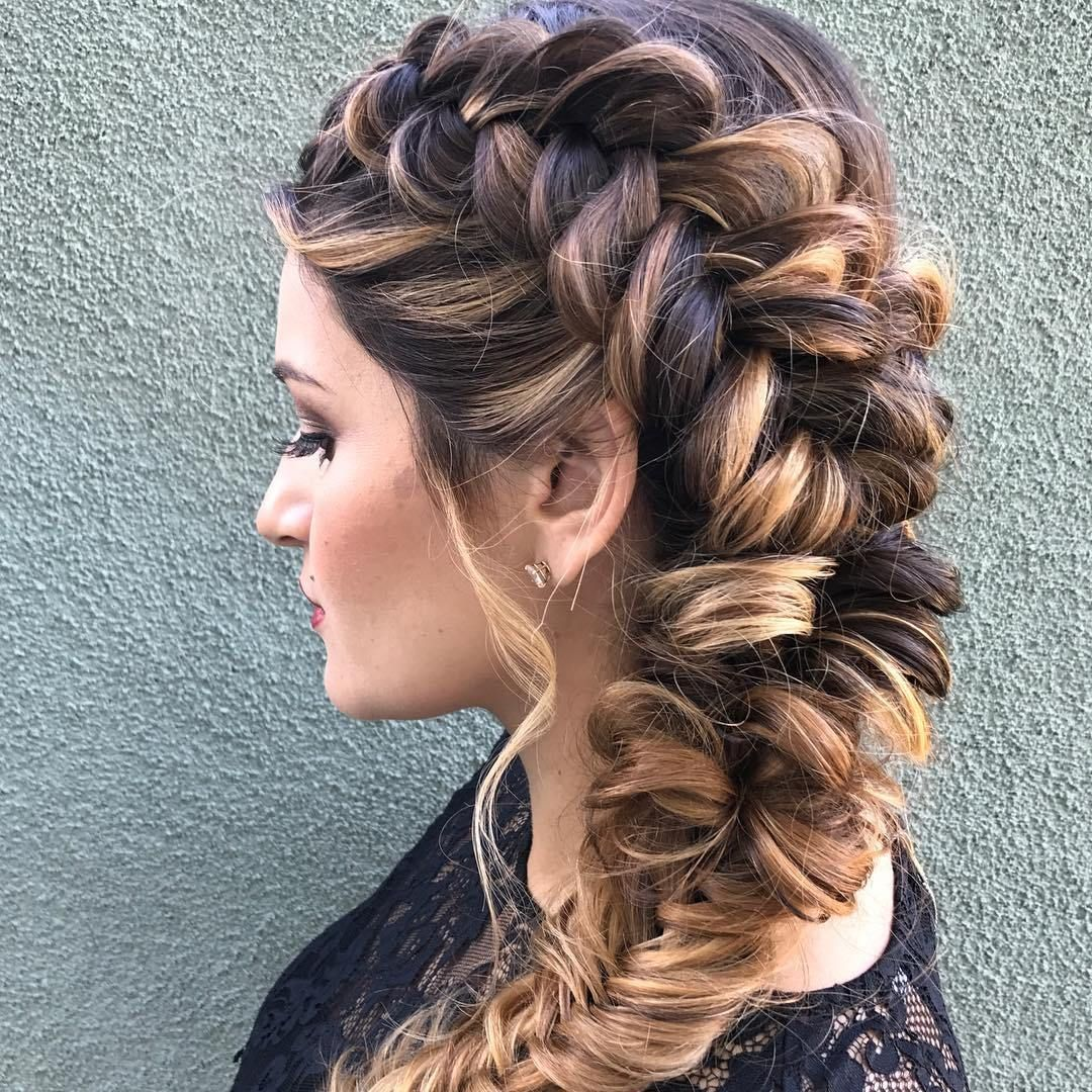 Braids and Balayage hairstyle to try