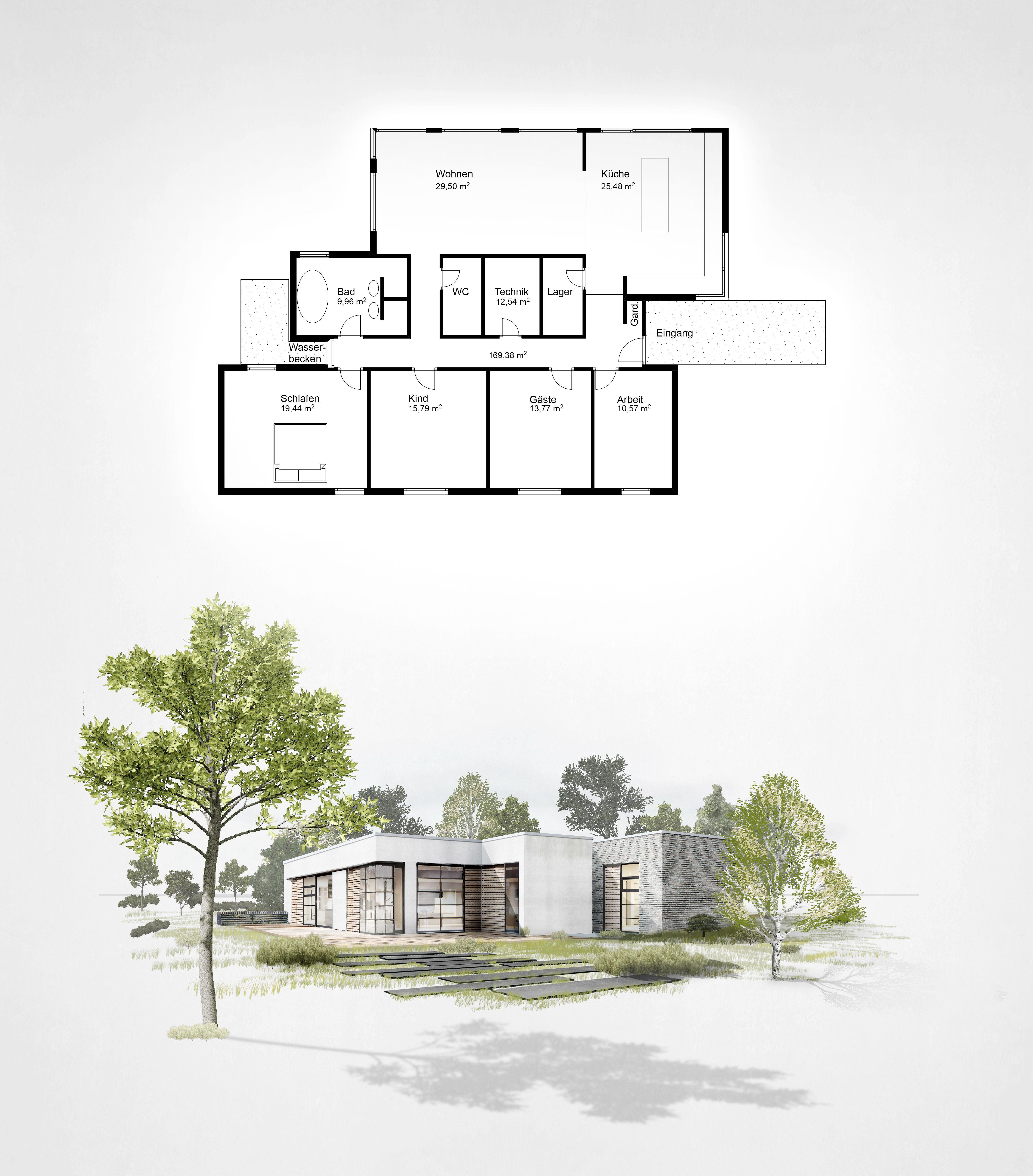 Entwurf & Plan Bungalow innenarchitektur architektur