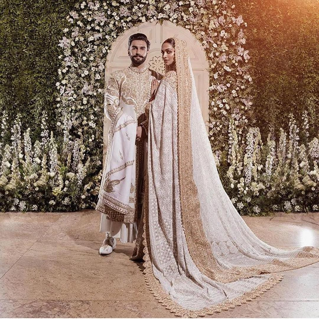 Shaadiwish Indianbride Indiangroom Deepikapadukone Ranveersingh Deepveerwedding Celebrityweddings Abujanisandee Bollywood Wedding Saree Trends Fashion