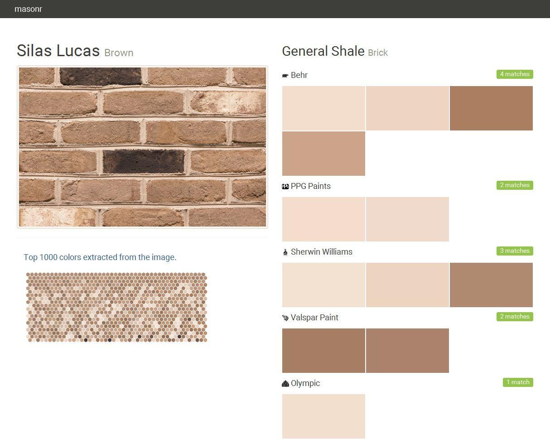 Brick General Shale Brick Silas Lucas Brick Shale Paint Matching