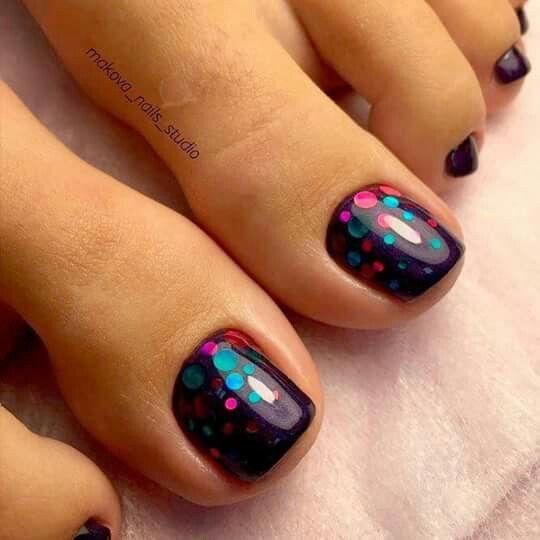 Simple Nail Art On Foot: Stylish Gorgeous Glam Natural Nail Art Design Tutorial