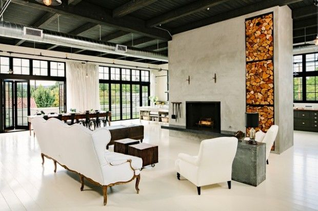 Urban Interior Design Ideas In Industrial Style With Modern ...