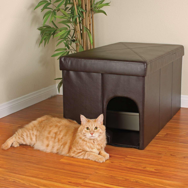 cat litter box storage ottoman cat litter box furniture diy