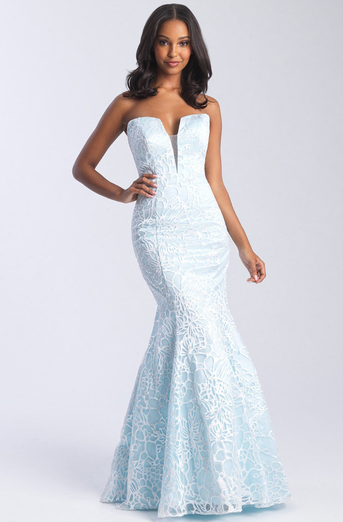 Madison James 20 329 Plunging Sweetheart Lace Openwork Gown Madison James Prom Dress Prom Dresses Prom Dress Stores [ 2000 x 1314 Pixel ]