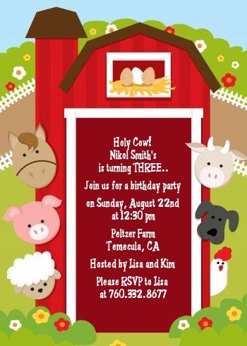 farm birthday invitations elita aisushi co