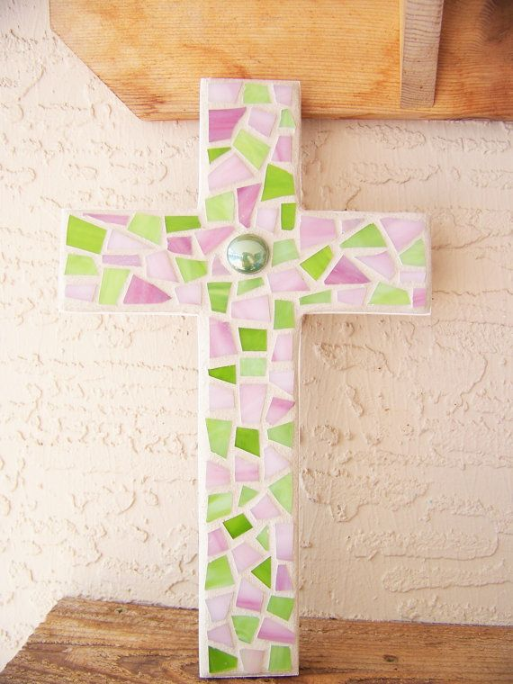 Large Wall Cross Decorative Cross Wall Hanging Cross Stained Glass ...