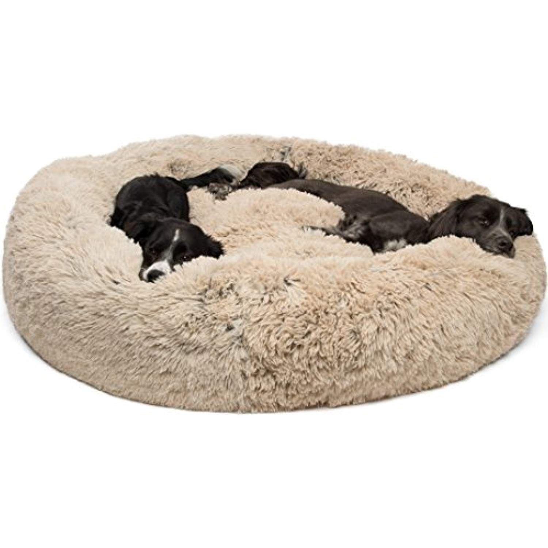 Best Friends By Sheri Luxury Shag Fur Donut Cuddler 45a Taupe A