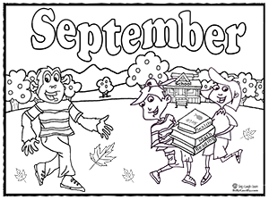 september coloring sheets and activities | Back To School ...