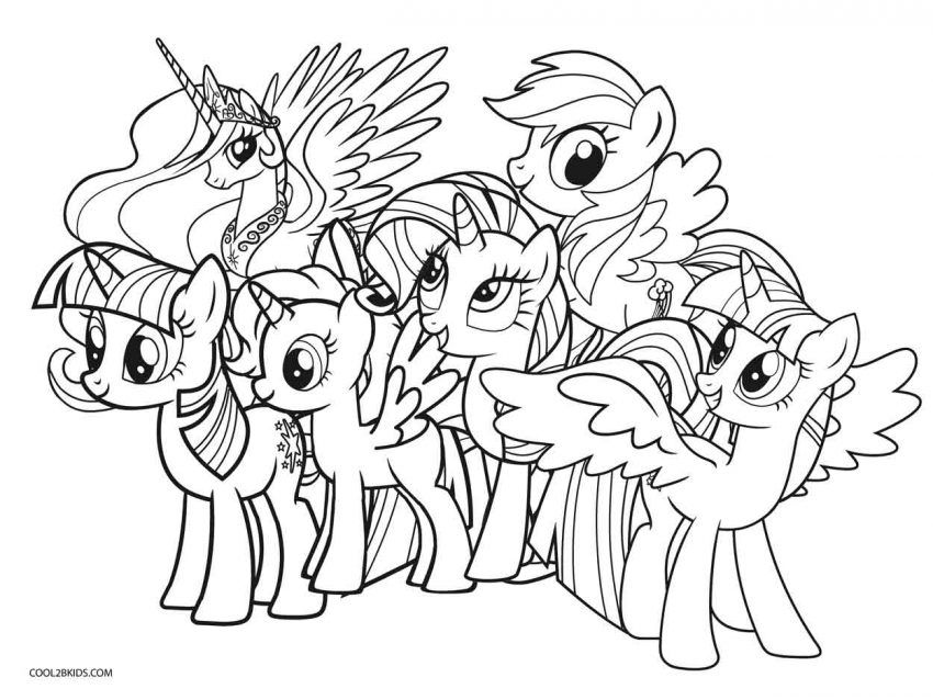 My Little Pony Coloring Pages Twilight Sparkle And Friends My Little Pony Coloring My Little Pony Printable Free Coloring Pages