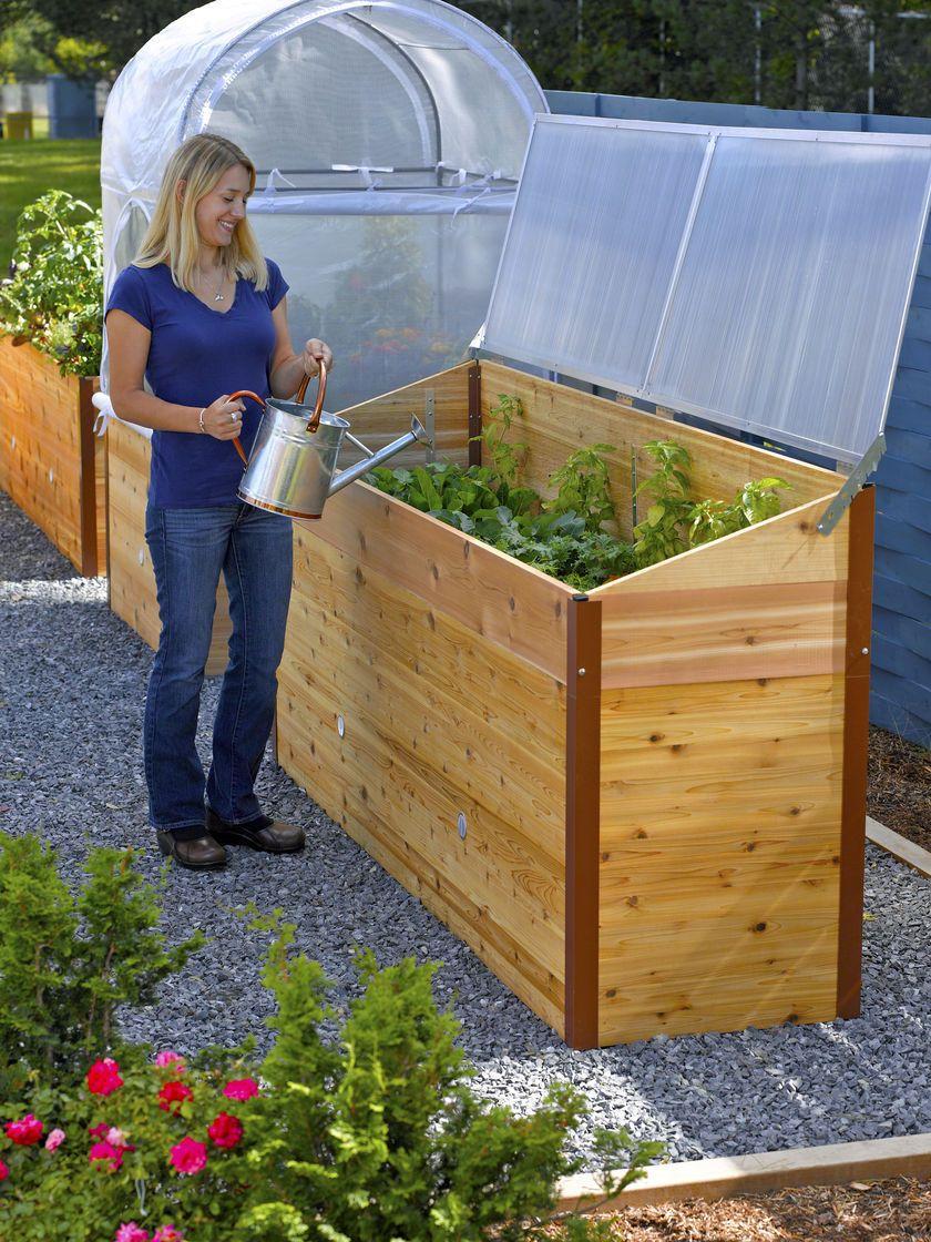 Cedar 2x8 Elevated Garden Bed - Long Garden Bed Planter Box ...
