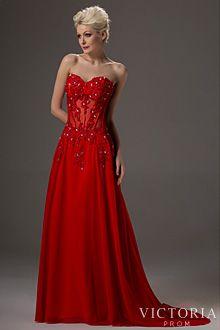 Red Corset Prom Dress