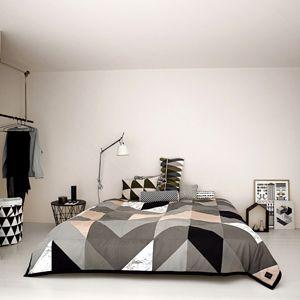 couvre lit bio Couvre lit en coton bio motif géométrique Ferm Living | Deco  couvre lit bio
