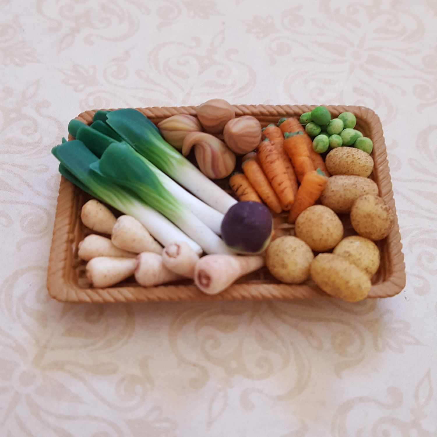 Dollhouse Accessories Mini Handcrafted Clay Fruits Doll House Miniature Vegetables Carrot For Doll Kitchen Toys & Hobbies