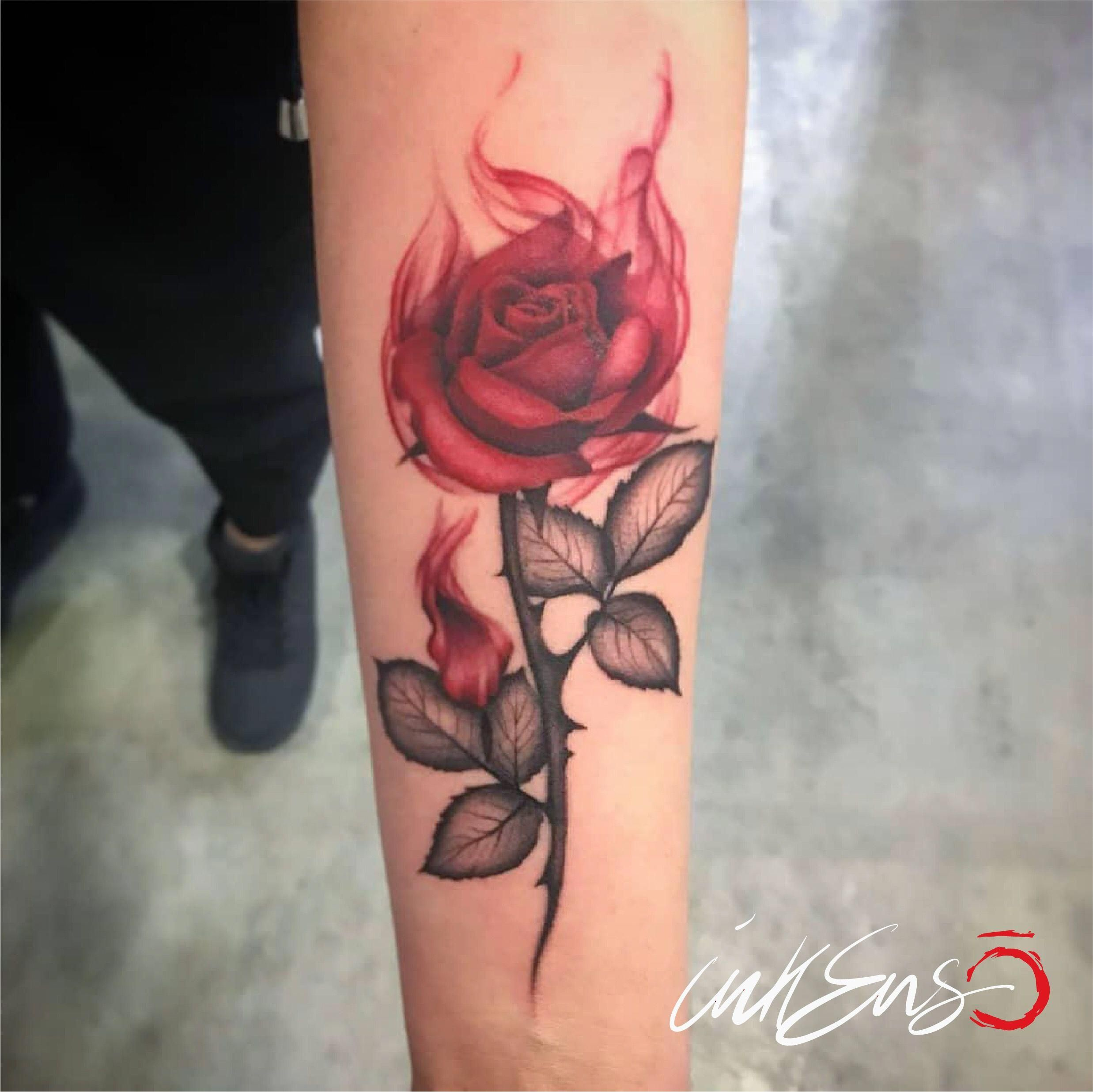 Follow Me On Instagram Ilainktattoo Inkensotattoostudio 1st Prize At Piacenza Tattoo Convention Ila Ink Red R Hand Tattoos Flame Tattoos Red Rose Tattoo