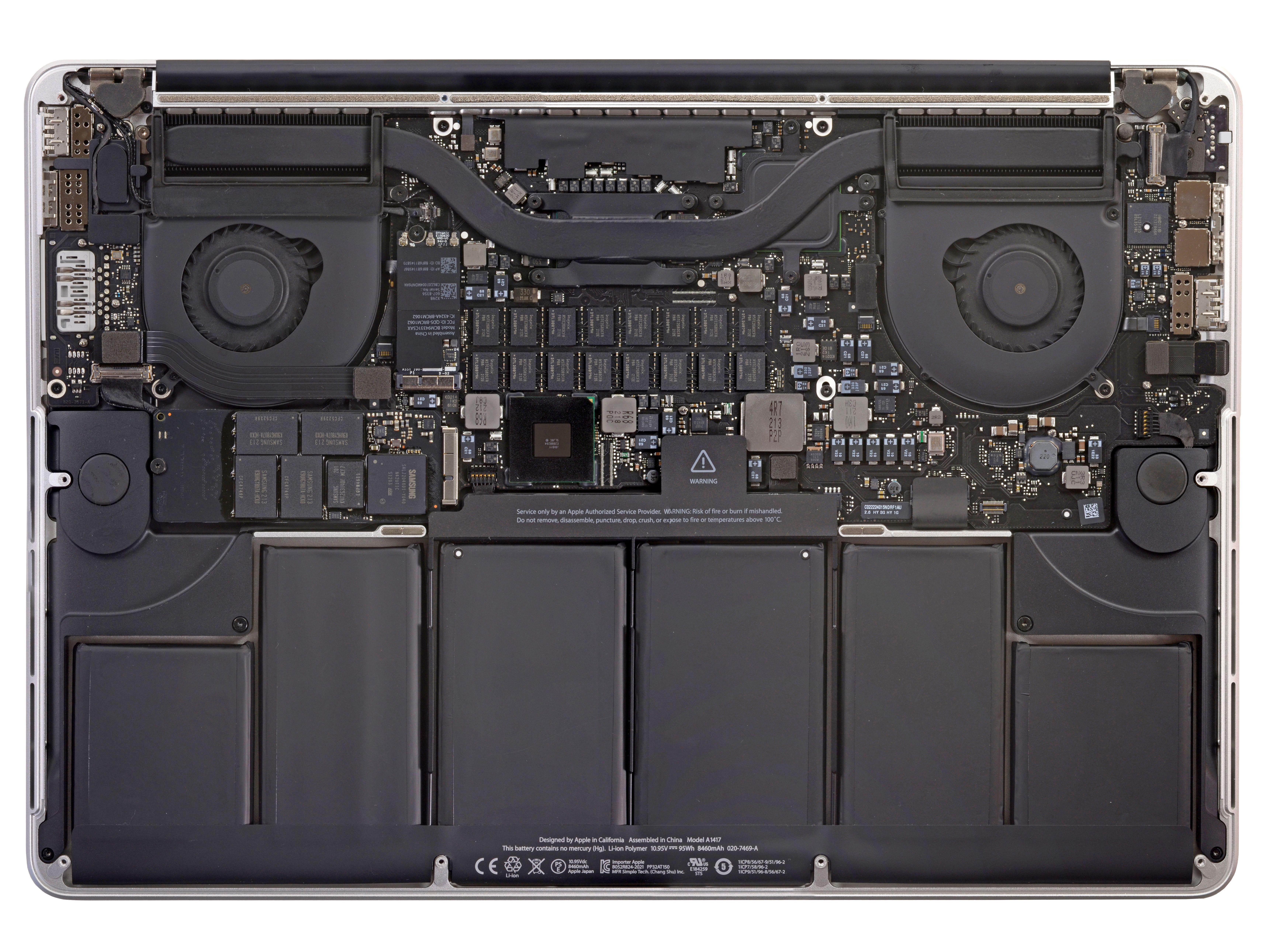 Interior Of The Macbook Pro 15 With Retina Display Newest Macbook Pro Macbook Pro Macbook Pro Retina