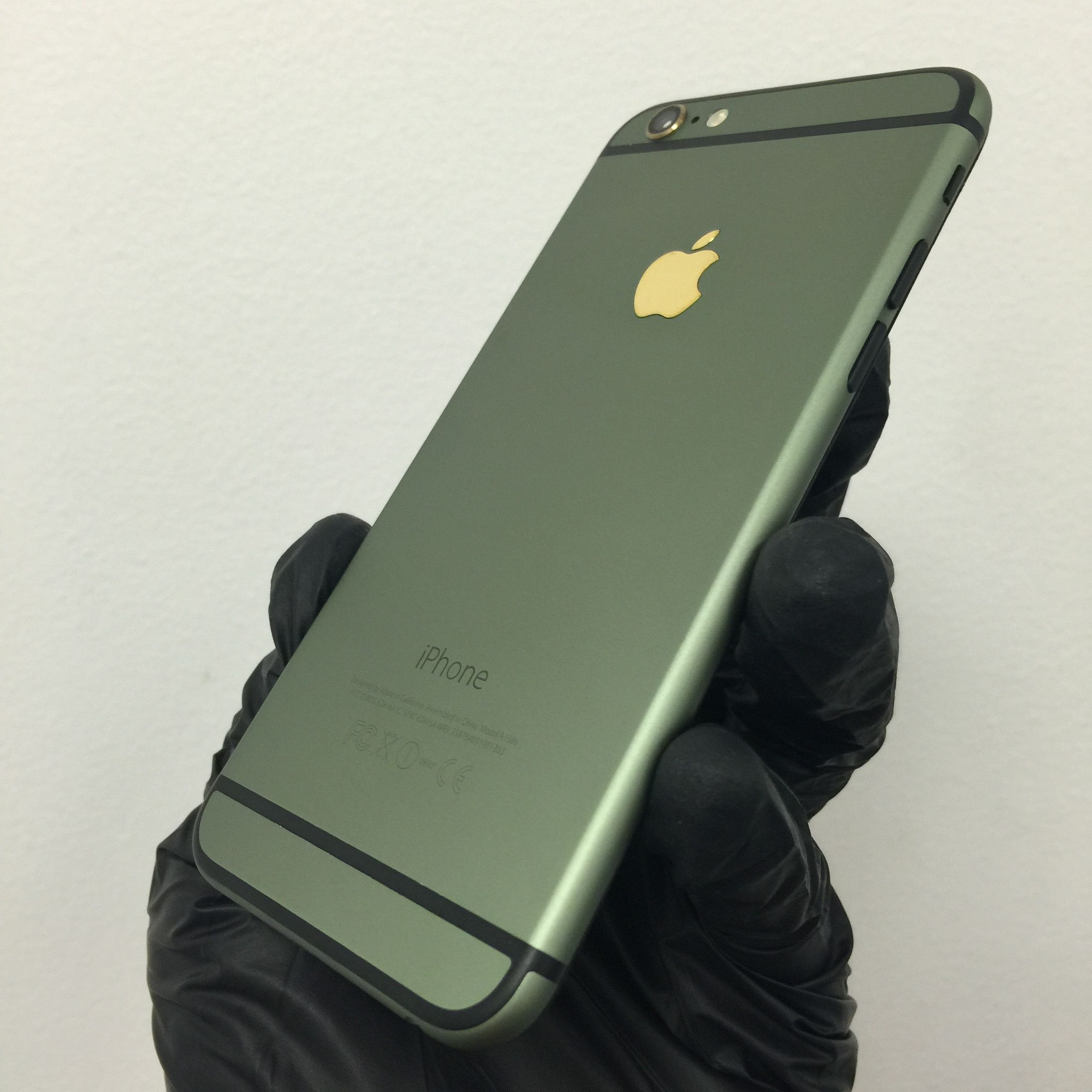 iPhone 6S+ Plus Matte Back Housing with Gold Logo and