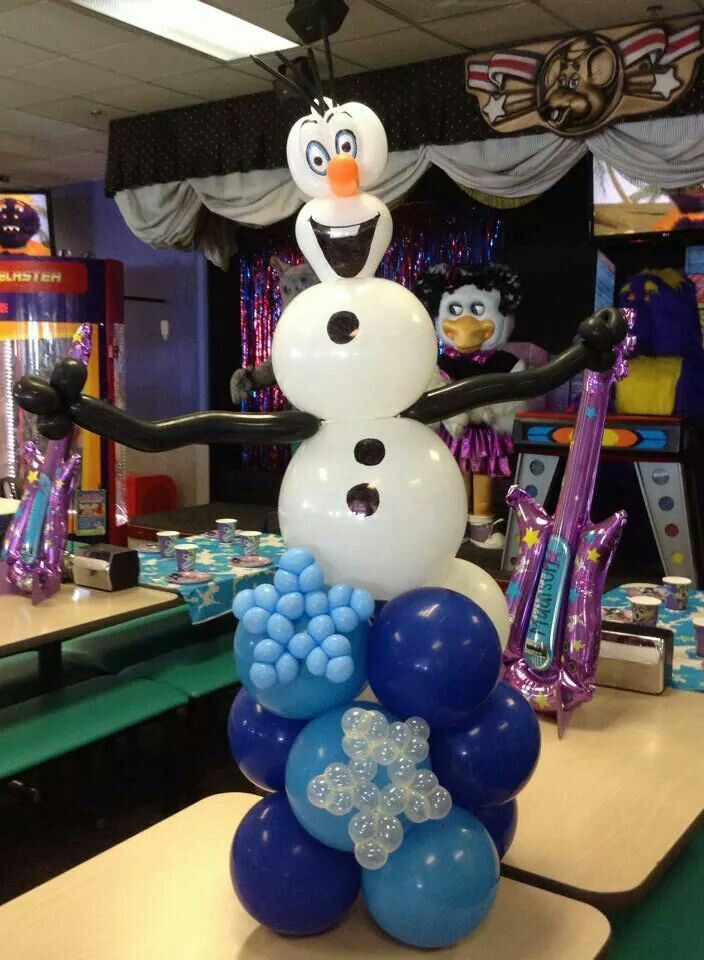 Olaf frozen centerpieces balloon center pieces centros