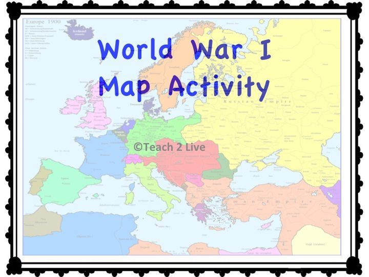 World war 1 map activity map activities activities and social world war 1 map activity gumiabroncs Gallery