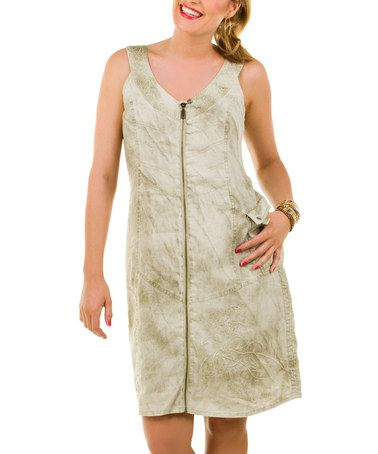 Take a look at this Oyster Green Linen Isadora Dress - Women by Yest on #zulily today!