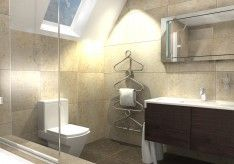 Bath Design Software Free With Modern Sloping Ceiling With Transparent Glass And Vanity Mirro Bathroom Lighting Design Bathroom Design Bathroom Design Software