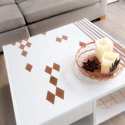 DIY Ikea - Tisch mit Webbändern und Rauten rock´n roll von @Steffi ...